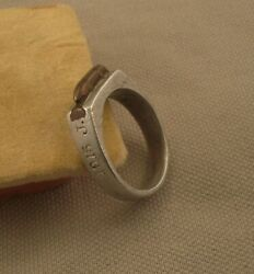 Rare Wwi Aluminum / Brass Bronze Trench Art Ring 1916 Size 14
