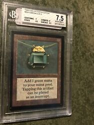 Mtg Magic The Gathering Collector's Edition Mox Emerald Bgs 7.5 Ce Vintage 1993