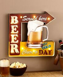 Lighted Vintage Marquee Signs. Bear Served Here. Great Gift