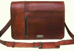 Handcrafted Messenger Shoulder Men Satchel Laptop School Briefcase Bag 15quot; Leath $55.00