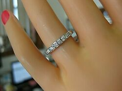 75% OFF ROUND BAGUETTE PLATINUM DIAMOND WEDDING BAND STACKABLE RING $395.00