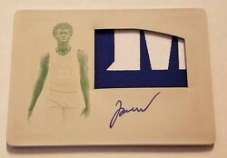James Wiseman Warriors 2020 National Treasures 1/1 Patch And Auto Printing Plate