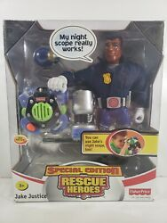 Mattel Rescue Heroes Jake Justice Special Edition B3060 10 Tall New In Box 2003