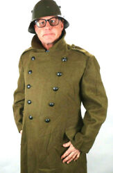 Romanian Army Wool Trench Coat Sizes Medium Large And X-large