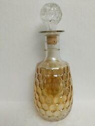 Vintage Old Forester 86 Proof Iridescent Carnival Glass Whiskey Bottle Decanter