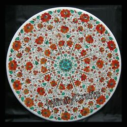 36 X 36 Inch Stone Inlay Hotel Table Top Round Marble Dining Table Home Assents