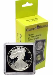 10 Guardhouse Tetra 2x2 Coin Holder Snap Capsule 40mm American Silver Eagle Case