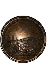 Antique And Co Bronze Commemorative Medal Society Of Colonial Wars