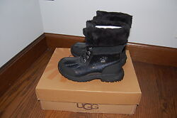 New Ugg Butte Boots Youth Winter Snow Girls' Black Kids Shoes