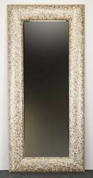 Monumental Mother Of Pearl Tessellated And Beveled Mirror, 1980s Mcm