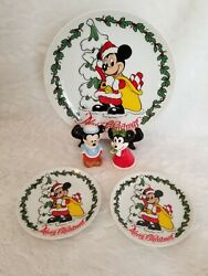 Disney Collectible - Cookie Plate Salt And Pepper And More - Mickey And Minnie