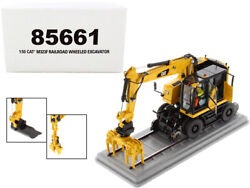 Cat Caterpillar M323f Railroad Wheeled Excavator With Operator And 3 Work Tools