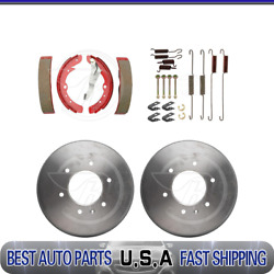 Raybestos Rear Brake Drums And Brake Shoes And Hardware Kit For 1978-1979 Audi 5000