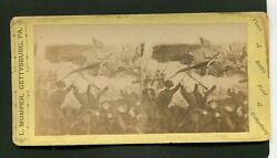 Early Stereoview Civil War 3 Rd Day Gettysburg Pa Stereoview By L Mumper
