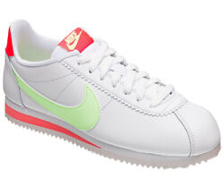 Women's Nike Classic Cortez Leather White/barely Volt 807471 116