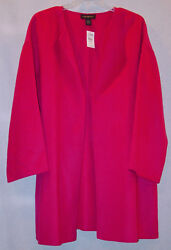 Lane Bryant Womans Wool Blend Hot Pink Jacket/ Coat Size 22-24 New With Tags