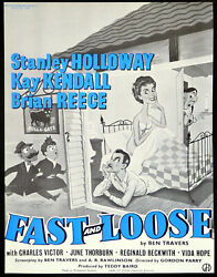 Fast And Loose 1954 Stanley Holloway Kay Kendall Brian Reece Trade Advert