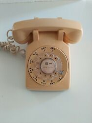 Vtg 70s Bell System - Western Electric Rotary Dial Desk Phone - Yellow 1974 500