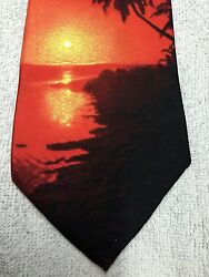 Rm Style Mens Tie Palms And Sunset 4 X 59