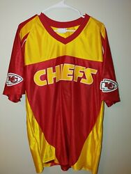 Vintage Majestic Jersey Kc Chiefs One Of A Kind Sewn On Letters. Euc Large