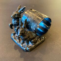 Pairpoint Mfg. Co. Figural Silverplate Rabbits Napkin Ring Victorian C 1880s