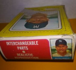 Complete Box Toy Top Panel 1968 Transogram Mickey Mantle Rare Card Poor Pr Tphlc