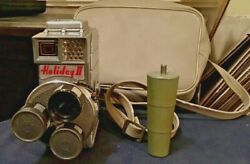 Mansfield Holiday Iitri-lens 8mm Cine Movie Camera Screw On Handle And Case