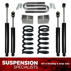 2-3 Drop Lowering Coil Springs Kit With Shocks For 1982-2004 Chevy S10 V6 2wd