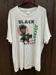 Vintage First Black Jockey Kentucky Derby Festival 94andrsquo T Shirt Xxl Made In Usa