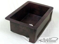 36 Ariellina Farmhouse 14 Gauge Copper Kitchen Sink Lifetime Warranty Ac1909