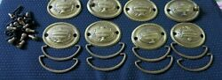 8 Dresser Drawer Oval Drop Bail Pull Handle 2 Screw Centers Urns All Hardware