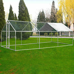 Large Walk in Chicken Coop Hen House Enclosure Backyard Poultry Cage XL w Cover