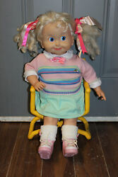 Vintage 1985 Playmates 25 Talking Cricket Doll With Cassette Tape And Chair