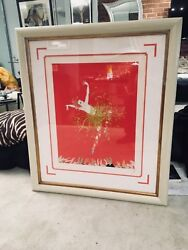 """Limited Edition Original1982 Signed Lithograph """" Applause """" Beautifully Framed."""