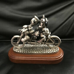 Disney Chilmark Mickey And Minnie Mouse Pewter Figurine Statue Set