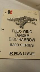 Krause Owners Manual For 8200 Series Flew-wing Disc Harrow