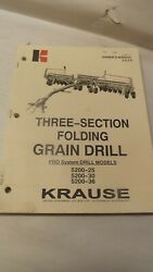 Krause Owners Manual For 5200-25-30-36 Three Section Folding Grain Drill