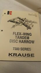 Krause Owners Manual For 7300 Series Flew-wing Disc Harrow