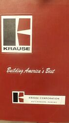 Krause Parts And Assembly Manual For 1800 Disc Harrow Implement