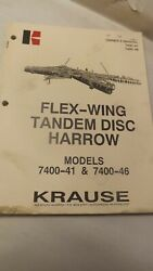 Krause Owners Manual For 7400-41 7400-46 Flew-wing Disc Harrow