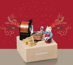 2021 Starbucks The Ox And Coffee Beans Collectable Music Box