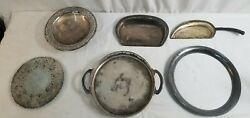 Vintage 6 Pc. Silver Plated Serving Utensils Lot Modern Silver Wallace Bros.
