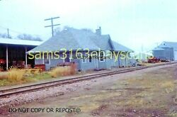 Original Slide Chicago Central And Pacific Rr Depot Wall Lake Iowa 1987