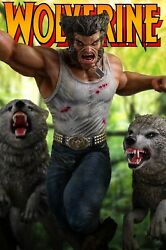 Custom Logan With Wolves 1/4 Scale Statue X-men Old Man / Wolverine / Marvel