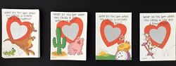 """145 Vintage Current Valentines Day Scratch Off Greeting Card """"from Your Teacher"""""""