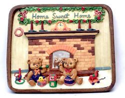 Novelties And Gifts 1253814b Home Sweet Home Resin Wall Plaque - Bears By Fireplac