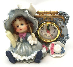 Novelties And Gifts 1256138c-b Victorian Resin Clock - Girl Musician With Flute In