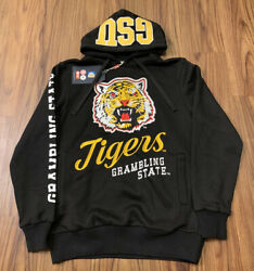 Grambling State University Tigers Mens Sweater Small Embroidered Hoodie Black