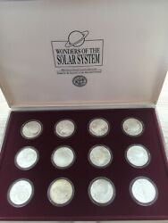 Wonders Of The Solar System 12 X Silver 50 Marshall Islands 1994 Complete Set