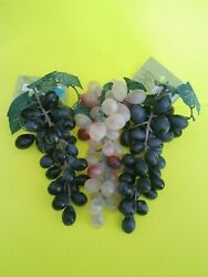 Plastic / Rubber Faux Grape Cluster For Home Decoration Lot Of 3 Ashland New